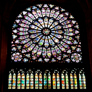 The Rose window of Notre Dame